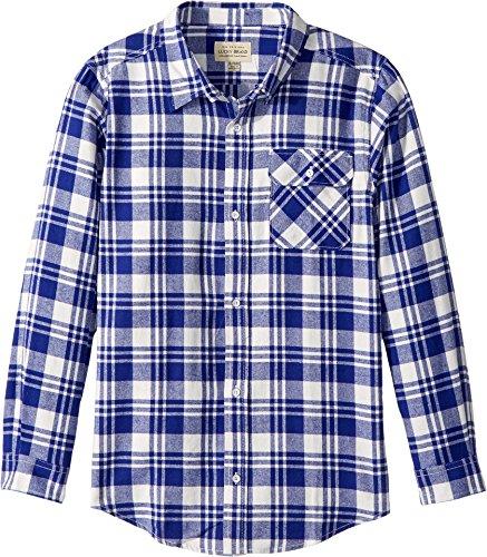 Lucky Brand Little Boys' Long Sleeve Plaid Button Down Shirt, Birch, 6 by Lucky Brand