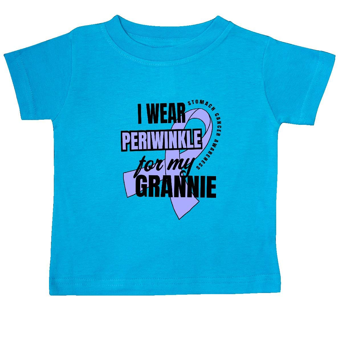 inktastic I Wear Periwinkle for My Grannie Stomach Cancer Awareness Baby T-Shirt