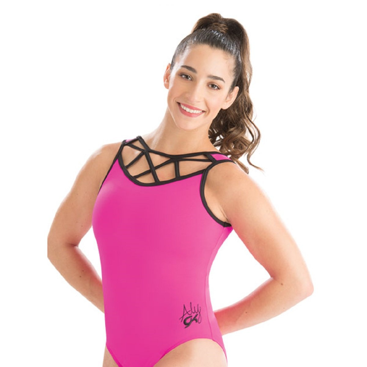 GK Elite Aly Raisman Essential Strappy Leotard Adult Small AS by GK Elite