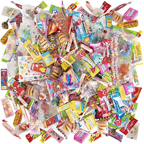 Narwhal Novelties, Pinata Candy or Halloween Candy Assortment (100-Pack) Assorted Candy; Twizzlers, Sour Patch, Nerds, Laffy Taffy, Smarties, Air Heads; Bulk -
