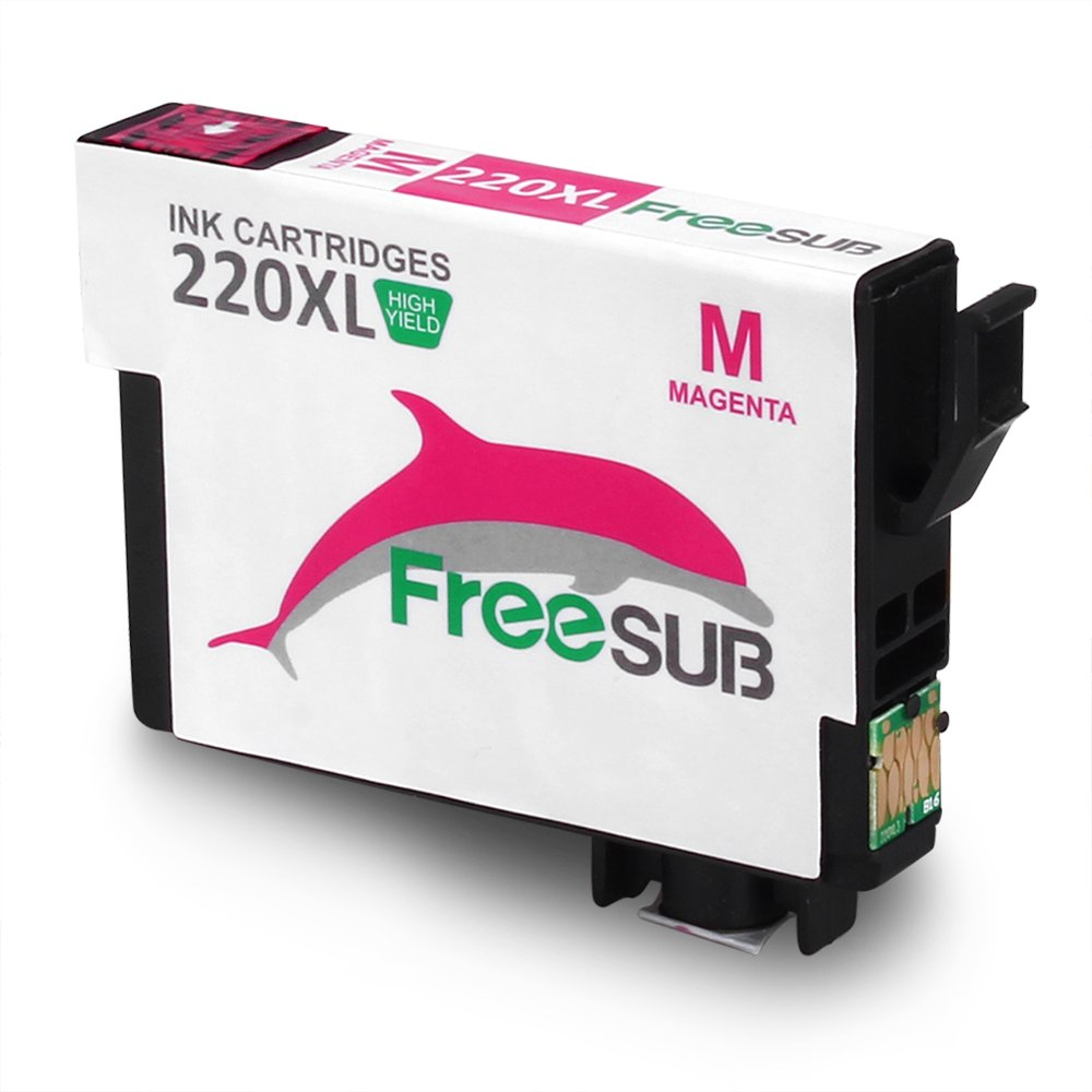 FreeSUB Remanufactured Ink Cartridges 6-Pack Replacement for Epson 220XL 220 Ink Cartridge, High Capacity 1 Set+2 Black Used for Epson WF-2630 WF-2650 WF-2660 WF-2750 WF-2760 XP-320 XP-420 XP-424 by FreeSUB (Image #4)