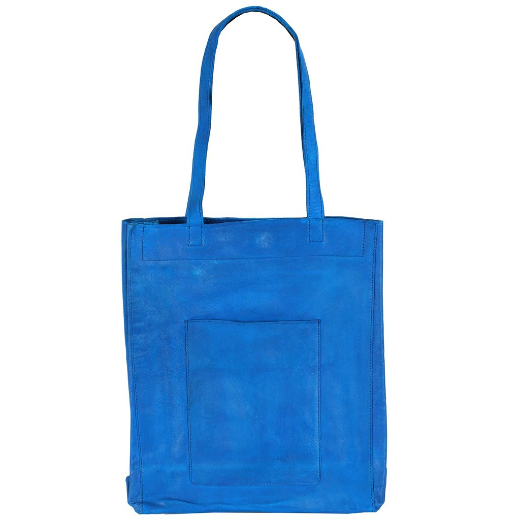 Latico Leathers Saugatuck Tote Genuine Authentic Luxury Leather, Designer Made, Business Fashion and Casual Wear, Turquoise by Latico (Image #2)