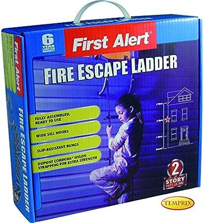 Escalera de Emergencia Escalera de Incendios First Alert 2 Stock admitidas/Pisos 4,3 m Seguridad Escalera: Amazon.es: Hogar