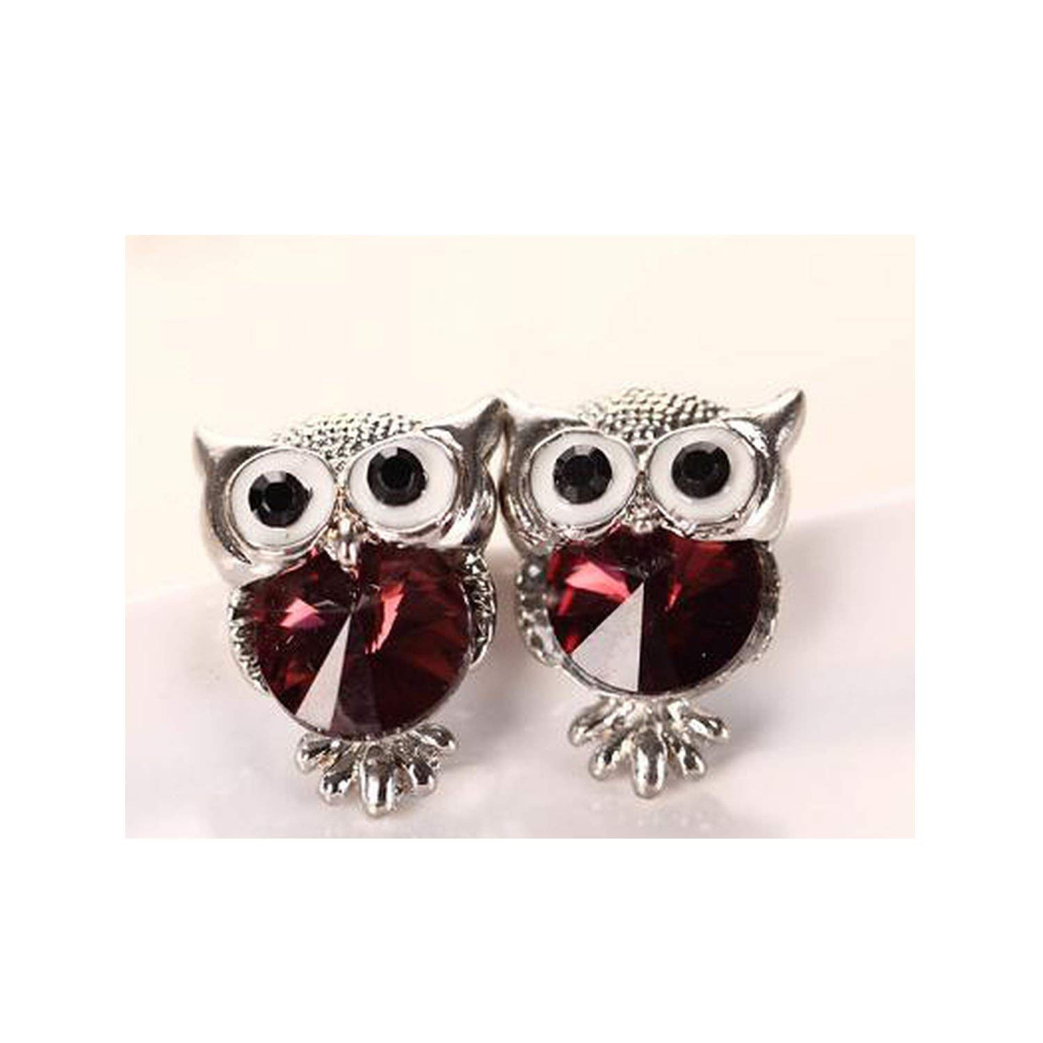 Jewelry Crystal Owl Stud Earrings Women Vintage Gold-Color Animal Statement Earrings Brincos