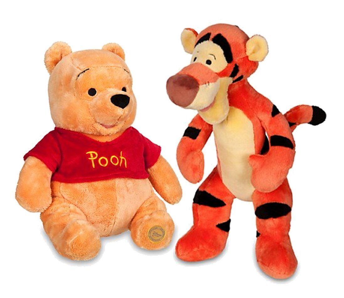 Winnie the pooh bathroom sets - Amazon Com Winnie The Pooh And Tigger Plush 14 Medium Combo Set Toys Games