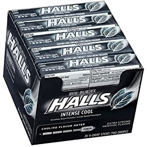 Amazon Com Halls Extra Strength Intense Cool Cough Drops