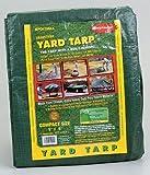 Yard Tarp with Drawstring-Poly Rope in Hem- Best Multi-Purpose Cover (9x9)