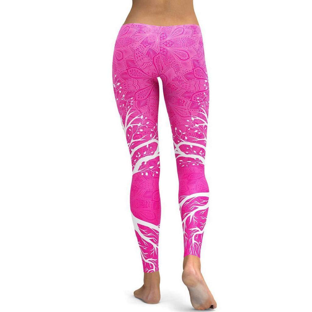 SHOBDW Mujer Moda Entrenamiento Estiramiento Leggings Suaves Flaco Cintura Alta Fitness Correr Mallas Deportes Gimnasio Correr Yoga Pantalones Atl/éticos