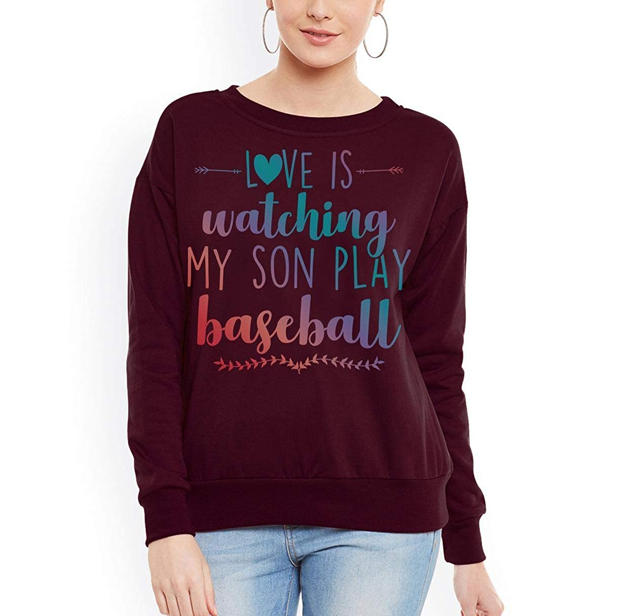 Love is Watching My Son Play Baseball Women Sweatshirt tee