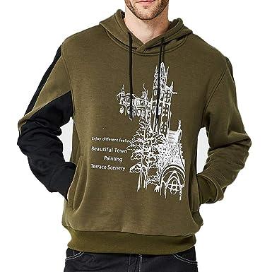 ae6c19660fd4 Herren Kapuzenpullover Btruely Hoodies Pullover Mäntel Outwear mit Kapuze  Sweatshirt Männer Kapuzenjacke Slim Fit Sweater
