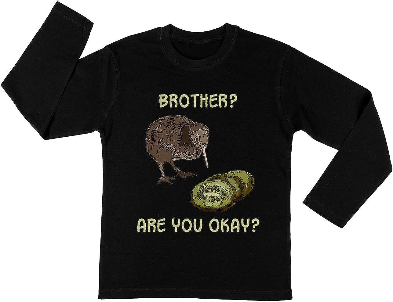 Los Kiwi Es Muerto Unisexo Niño Niña Camiseta Manga Larga Negro Todos Los Tamaños - Unisex Kids Boys Girls Long Sleeve T-Shirt Black: Amazon.es: Ropa y accesorios