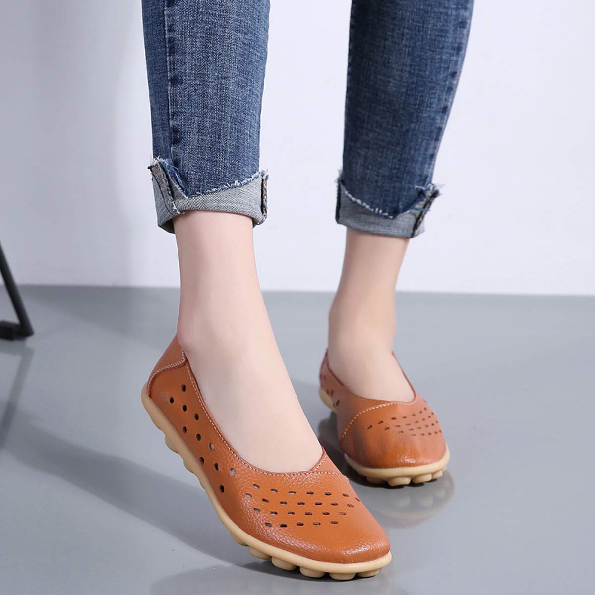 Dear Time Womens Driving Loafers Slip On Comfortable Print Flat Moccasins