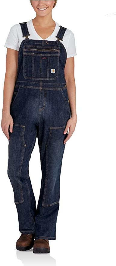 Carhartt Womens Denim Double Front Bib Overalls