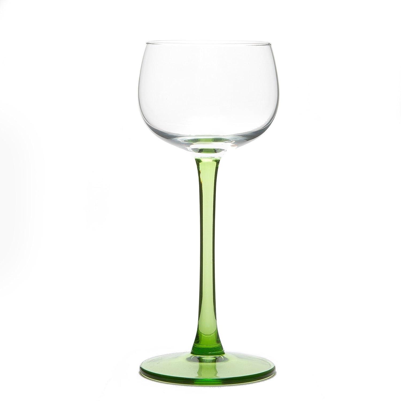 6 Verres /à Vin dAlsace traditionnels unis