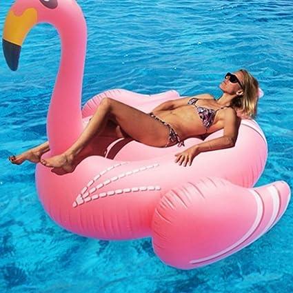 QSBY Flamingo Juguete reclinable colchoneta Flotante ...