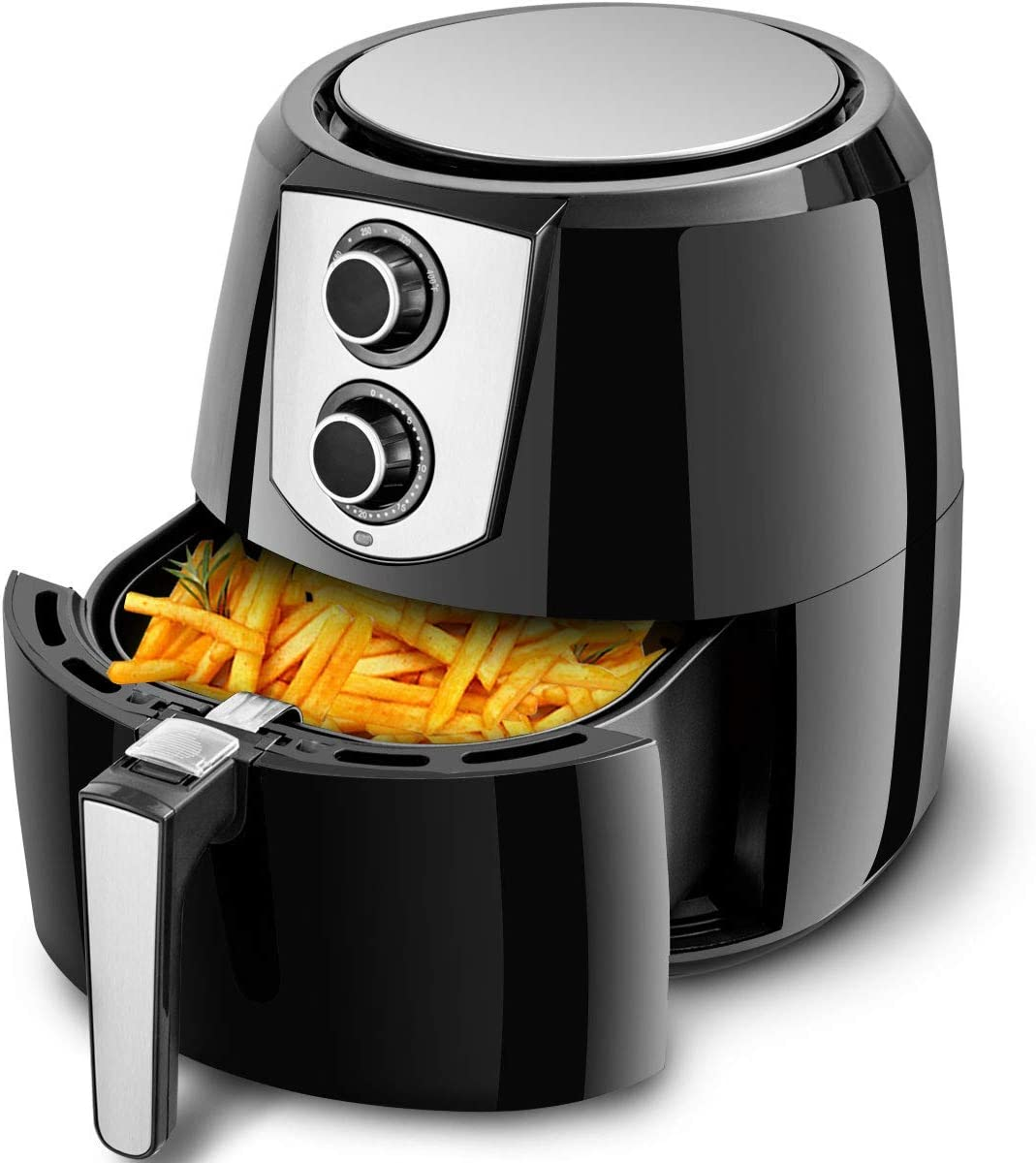 Costzon Air Fryer, UL Certified, Extra Large Capacity 5.5 Quart 1800W Electric Hot Air Fryer, Dishwasher Non-Stick Fry Basket, Auto Shut Off Knob Control