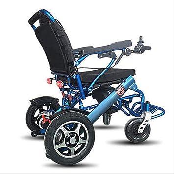 GJX Silla de Ruedas eléctrica, Silla de Ruedas de Aluminio, Silla de Ruedas para discapacitados, Silla de Ruedas eléctrica para Ancianos, Negro: Amazon.es: ...