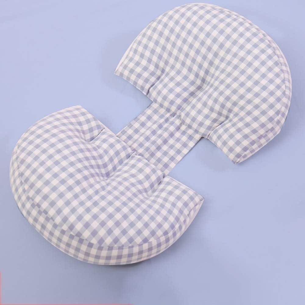 U-F/örmiges Schwangerschaftskissen Stillkissen Multifunktional Mit Bezug Aus 100/% Baumwolle Unterst/ützt Taille Und Bauch,Blau Schwangerschaftskissen Zum Schlafen Seitenschl/äferkissen