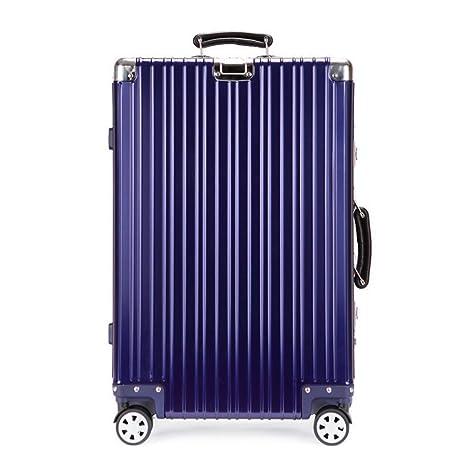 Aleación de aluminio y magnesio Caja de la carretilla retro moda Todo aluminio Maleta baúl Embalaje