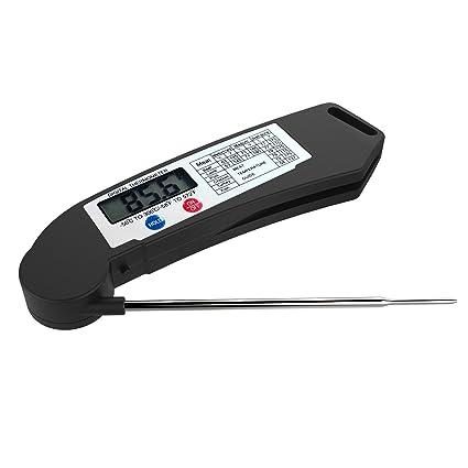 Termómetro Digital de Cocina - Termómetro con Función de Apagado Automático, Ajustable 180° de