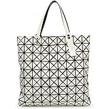 レディースハンドバッグ折り畳まれた女性用バッグ幾何学模様のハンドバッグレーザーバッグトートバッグレディースイブニングバッグ