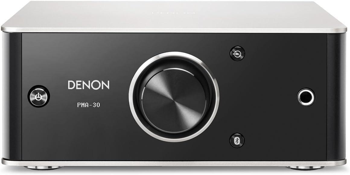 Denon PMA30SPE2 PMA-30 Design Series Amplificador integrado (Bluetooth, Entrada digital / analógica, 2 x 40W) Negro / Aluminio