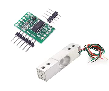 Aihasd Celda de Carga Digital Sensor de Peso 2kg Portátil Escala electrónica de la Cocina + Sensores de pesaje HX711 Módulo de anuncios para Arduino: ...