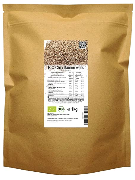 BIO las semillas blancas de Chía («Salvia hispanica»)  1kg ...