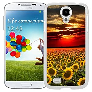 Nature Sunflower Field Landscape (2) Durable High Quality Samsung Galaxy S4 Case