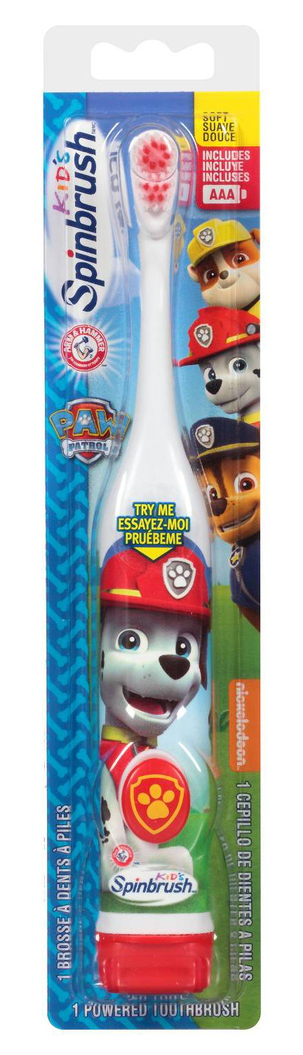 Paw Patrol Marshall Toothbrush & Toothpaste Bundle: 3 Items - Spinbrush Toothbrush, Orajel Bubble Berry Toothpaste, Kids Character Rinse Cup by Kids Marshall Dental Kit (Image #2)