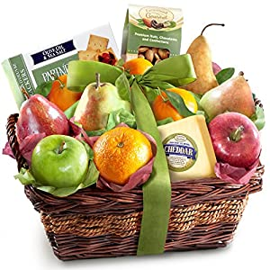 Cheese and Nuts Delight Fruit Basket