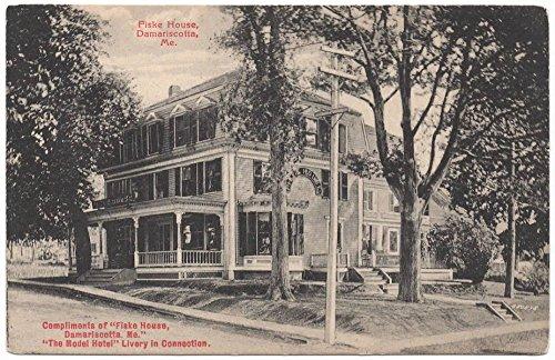 Postcard Fiske House in Damariscotta, Maine~106771
