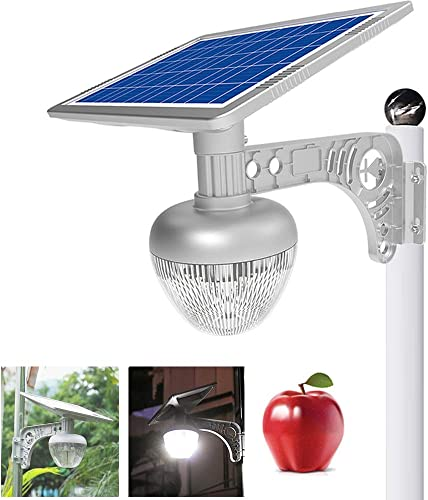 ECO-WORTHY 2700LM LED Solar Street Flood Lights Outdoor Lamps, Solar Garden Lights All-in One Wireless Dusk to Dawn with 18 W Solar Panel, Solar Motion Sensor Landscape Light for Villa, Lawn, Street