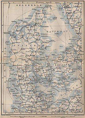 Amazon Com Denmark And Slesvig Schleswig Holstein Railways Kort