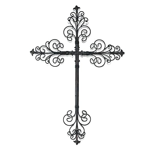 Dicksons Metal Wall Cross with Ornate Filigree Tips 24