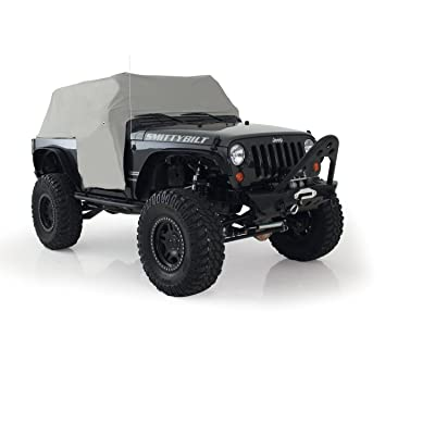 Smittybilt 1061 Gray Water-Resistant Cab Cover with Door Flap: Automotive