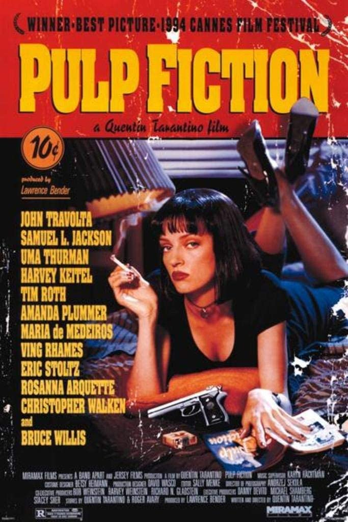 Pulp Fiction Uma Thurman Smoking Movie Cool Wall Decor Art Print Poster 24x36