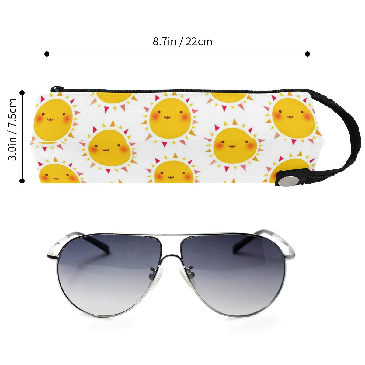 Elephant Flower Mandala Glasses Case Portable Soft Sunglasses Pen Bag Protective Pouch