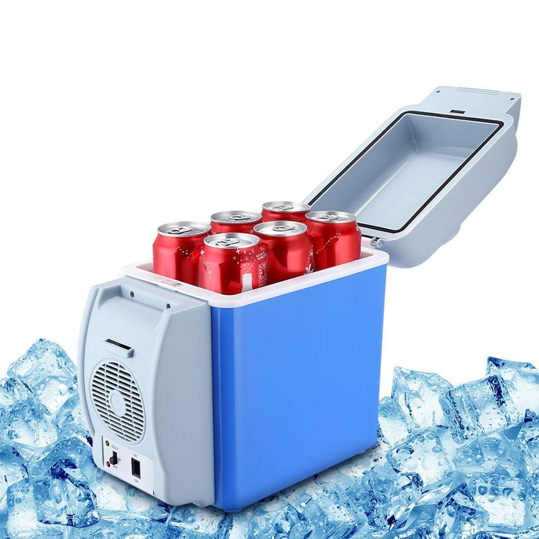 LEANO 7.5L Mini Car Refrigerator Low Noise Cooling Heating Portable Dual-Use Fridge Beverage Refrigerators by LEANO (Image #5)