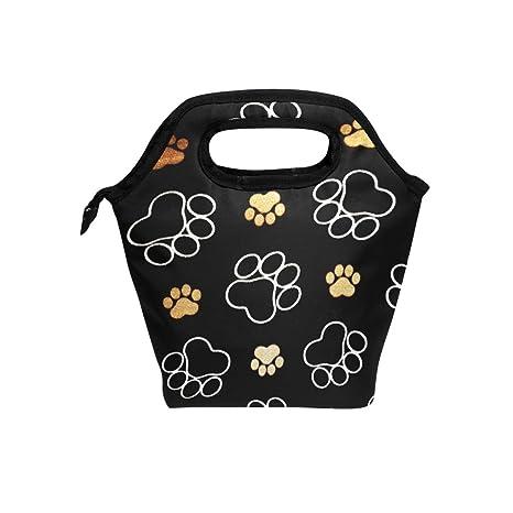 Eslifey Hámster perro huella Cooler Bolsa de almuerzo bolsas ...