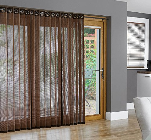 Bamboo Grommet Top Panels For Sliding Glass Doors And