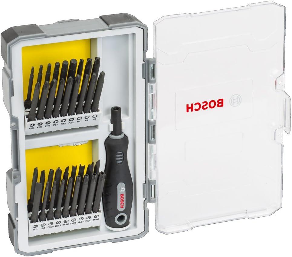 Bosch Professional 2608589294 Set de 37 Unidades para atornillar con empuñadura