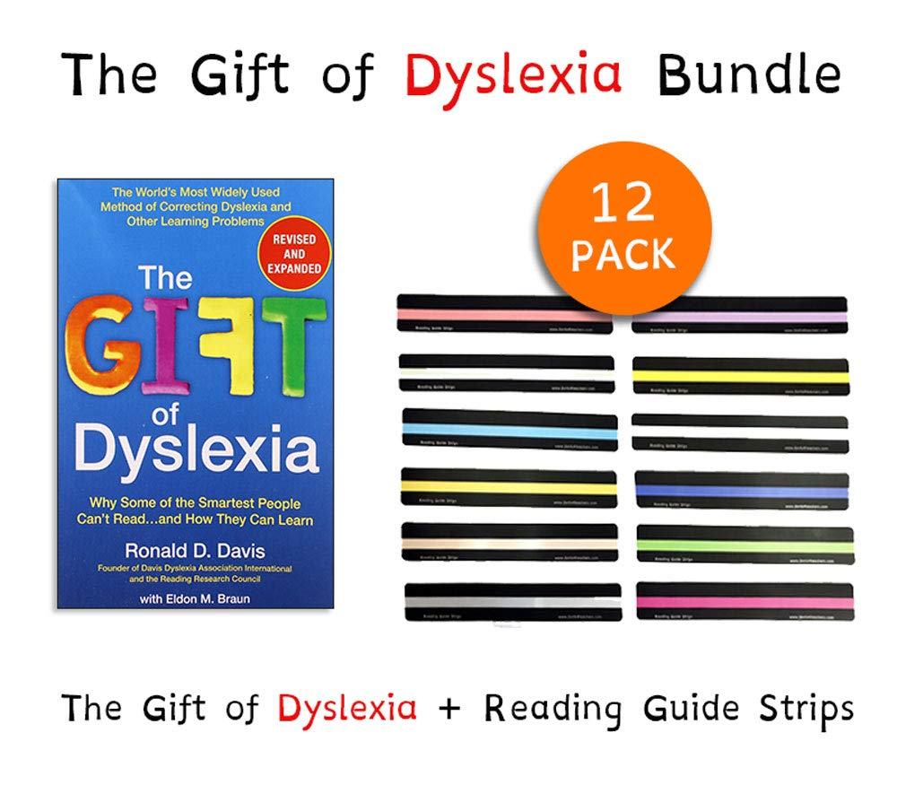 Understanding Dyslexia Dyslexia The Gift >> The Gift Of Dyslexia By Ronald D Davis Reading Guide Strips For