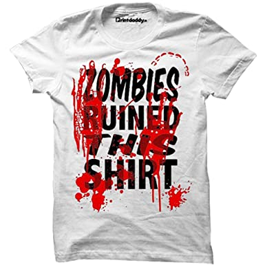 Zombies Ruined This Shirt Mens T-Shirt Funny