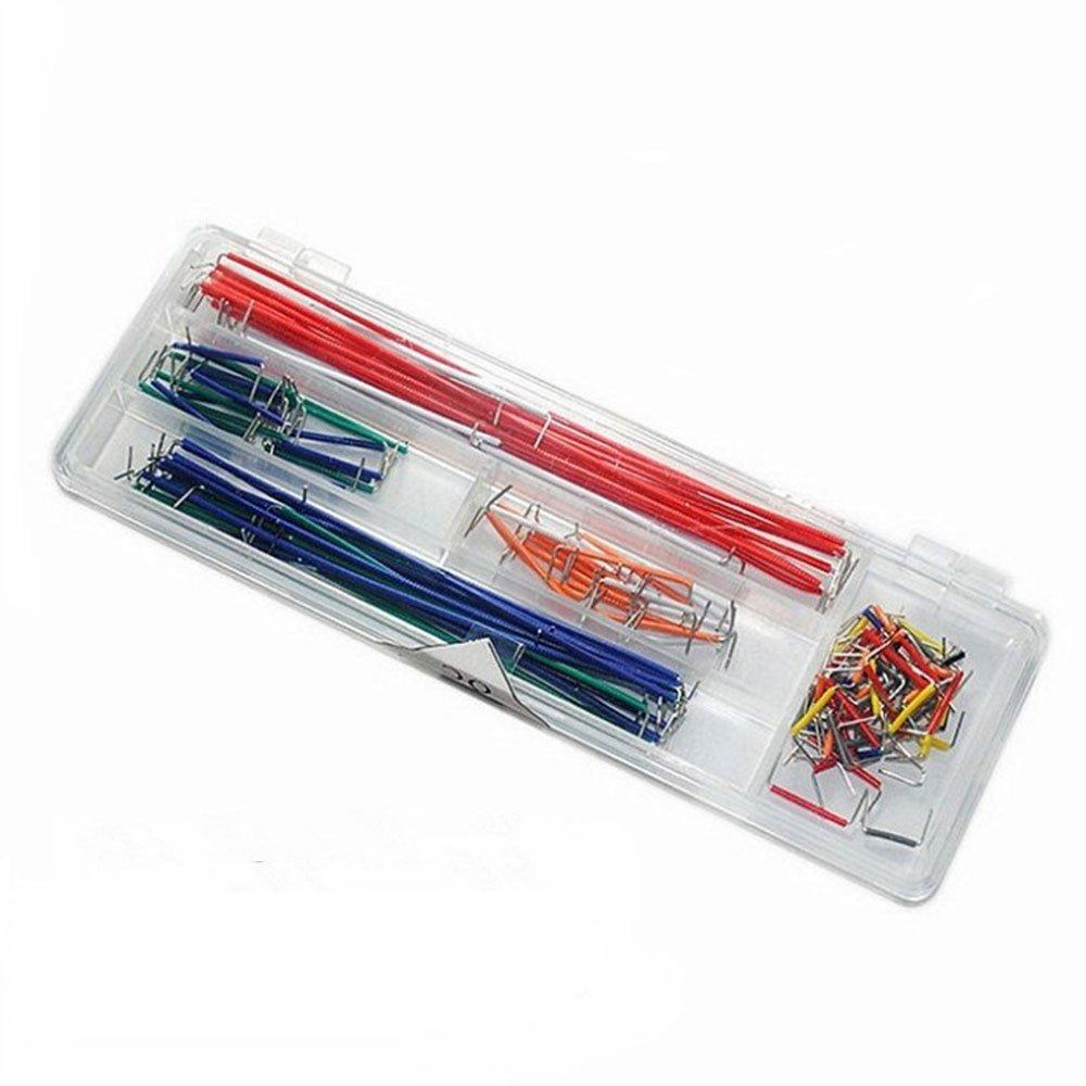 Lecimo 1 Caja U Forma Sin Soldadura Breadboard Jumper Cable Wire Kit para Arduino Shield