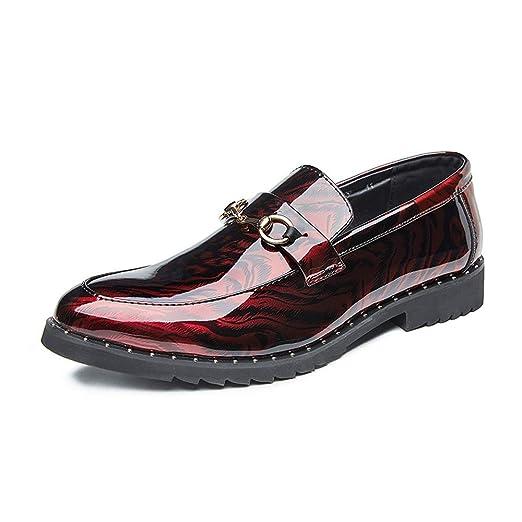 LANSHAY Originales Hombres Mocasines Zapatos C Casual Charol Moda ...