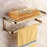 HQLCX Antique Towel Bar, All Copper European Style Towel Bar