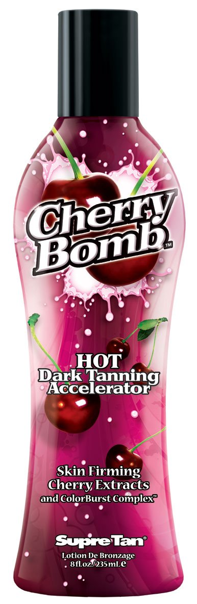 Supre Tan Cherry Bomb Hot Dark Tanning Maximiser with Skin Firming Cherry Extracts 100-1812-03