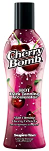 Supre Cherry Bomb Red Hot Dark Accelerator Tanning Lotion 8 oz