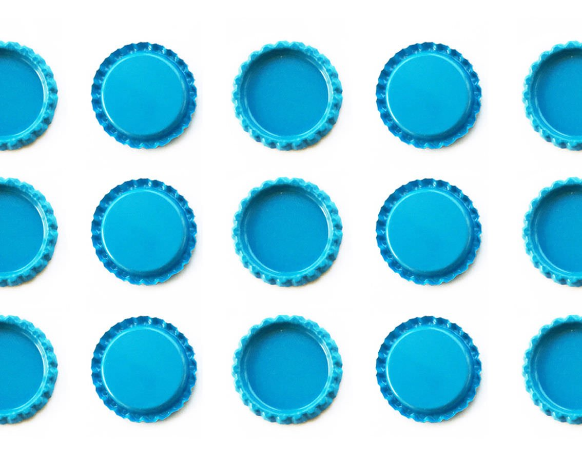 5000 1'' Flat Double Sided Painted Linerless Colors Crafts Bottle Caps, 1'' Standard Size, Linerless Bottle Caps, Alternative to Resin and Glazes, for Craft Project, Decorative Bottle Caps, Aqua Blue